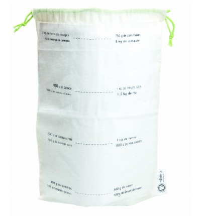 5 sacs à vrac en coton Bio taille M-gradués