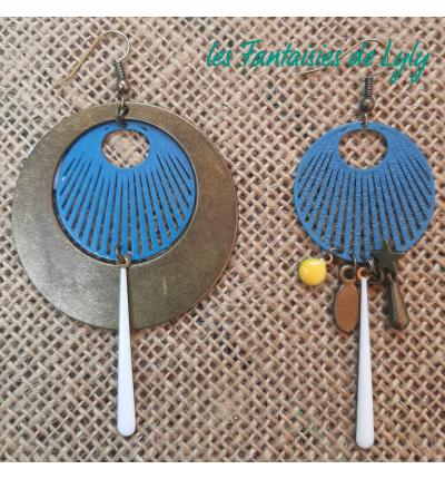 """Boucles d'oreilles Bohème Vintage """"les classiques de Lyly"""" , avec déco perles et breloques"""