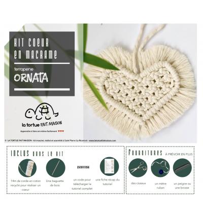 Kit Macramé - Coeur ORNATA